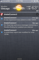 New InteleConnect Notifications