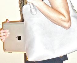 ipad carrying case, wine tote, highly functional handbag, versatile high end handbag