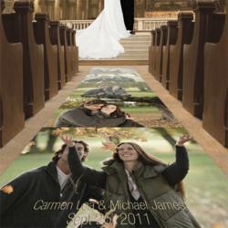 Custom Photo Wedding Aisle Runners