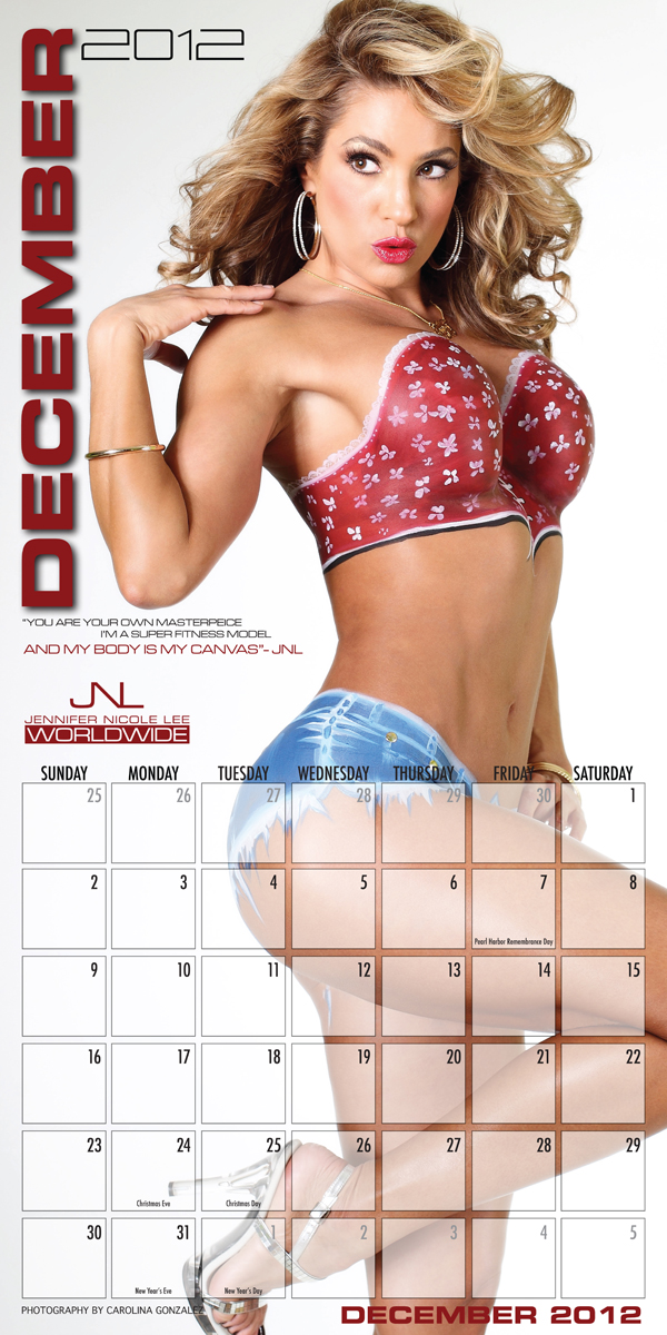 Jennifer Nicole Lee 2012 Calendar December