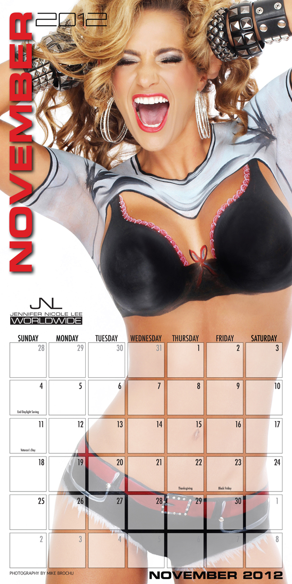Jennifer Nicole Lee 2012 Body Painting Calendar