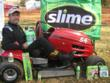 Lawn mower racer Ron Hendon at the Sam Rogers U.S. All American Open, Nov. 5-6, in Stevenson, Alabama.
