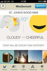 iPhone Home Screen on Weathermob