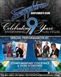 Sapphire, The World's Largest Gentlemen's Club, Celebrates 9th Anniversary December 15th