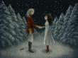 Clara and The Nutcracker Prince after his transformation