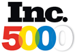Image of the Inc. 5000 logo awarded to fast growing privately held businesses such as Sound Telecom who is a provider of answering services, call center solutions, and cloud-based business services.