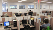 Image of the call center floor at Sound Telecom where they provide outbound call center services, telemarketing services, lead generation services, survey services, and market research programs.