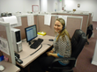 Image of an employee at Sound Telecom providing telephone answering services, medical answering services, virtual receptionist services, secure messaging services, pager services, bilingual answering services, and multilingual answering services.