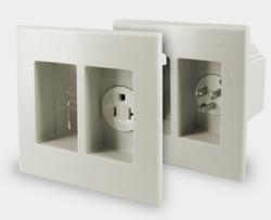 Sewell WallBlade Recessed Wall Plate Ensures a Perfectly Clean Installation that is Up To Code.