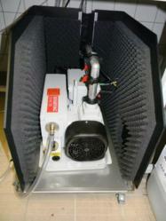 Sogevac pump insdie MS Noise vacuum pump enclosure