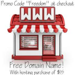 Get a free Domain Name Promo Code: freedom