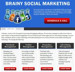 Brainy Social Marketing Home Page