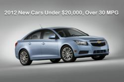 2012 New Cars Under $20,000, Over 30 MPG