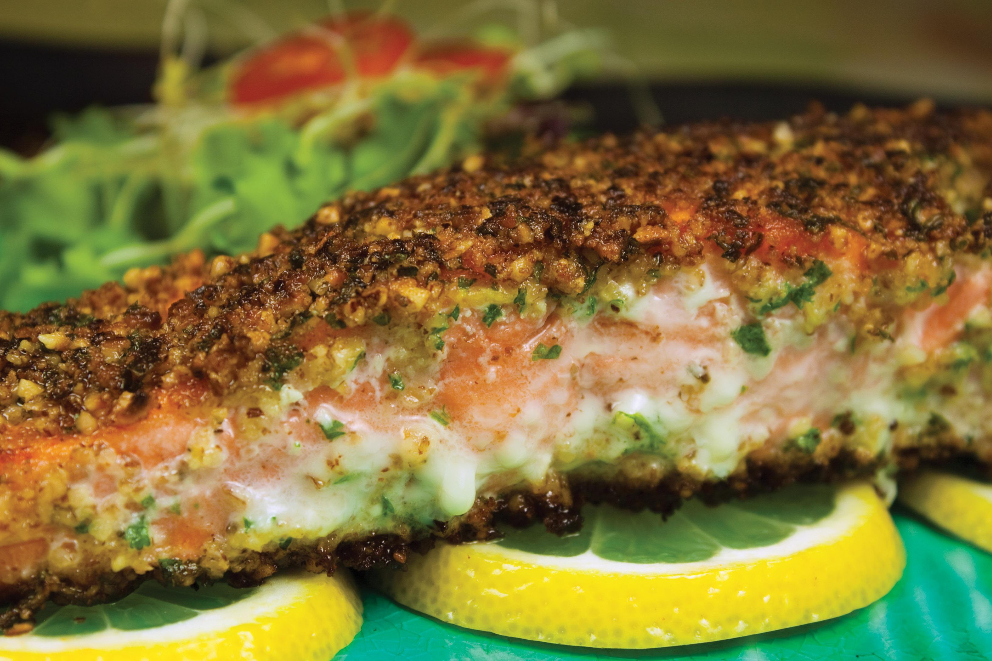 Hazelnut-Crusted Salmon Recipe — Dishmaps