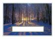 Forest Sunset Die Cut Card