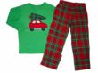 Mulberribush Christmas Tree Applique Shirt with matching Plaid Flannel Pants