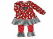 MisTeeVUs Red Christmas Penguins Swing Top with matching ruffle pants