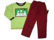 Trio of Snowman Christmas Shirts with matching mini-buffalo check flannel pant