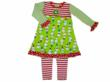 MisTeeVUs Lime Snowman with Candy Cane Leggings