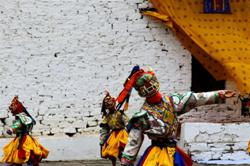 Mask Dance during Paro festival in Bhutan
