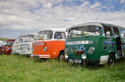 VW Campers at 2011 V-Dub Island on the Isle of Wight