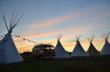 VW Camper and Tipi at 2011 V-Dub Island on the Isle of Wight