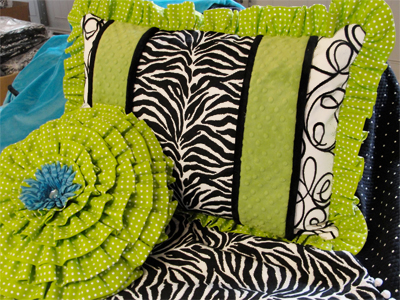 Rogue Designs Girls Rule Teen Bedding Collection in Black, Lime Green and ...