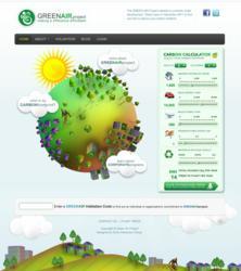 Green Air Project Website Screenshot