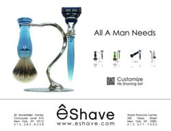 shaving sets, grooming experts, eshave, holiday shaving sets, QR code, gifts for men