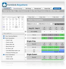 Hotel management software screenshot