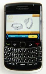 The Deinte campaign running on the iCandi platform on a Blackberry smartphone.
