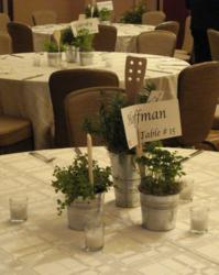 Hoffman Design Group Herb Centerpieces