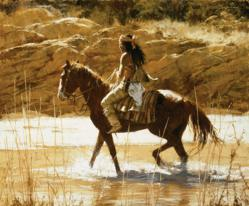 The Captains Horse - Howard Terpning - World-Wide-Art.com