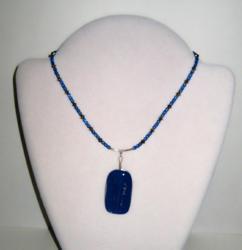 Smoky Blue Topaz Necklace