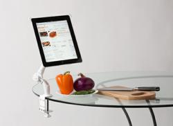 spiderArm iPad stand in the Kitchen