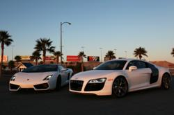 Gallardo LP550-2 Bicolore and Audi R8 V10