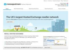 MessageStream website for Hosted Exchange resellers