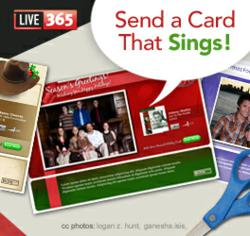 Live365 holiday music radio e-cards