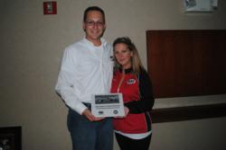 Justin Onderko and RAD Program Manager Sharon Clarke