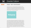 "Holypop's Blog, ""Counter Culture"""