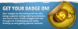 FreeShipping.net social rewards program - powered by Badgeville