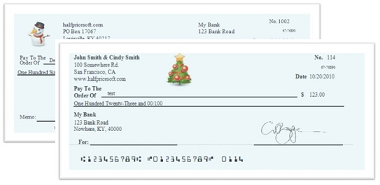 Christmas Personal Checks