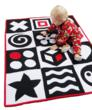 Baby Quilt Mat: High Contrast Sensory Play & Wall Quilt by HuggaMind