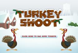 'Turkey Shoot' corporate Christmas e card from Katie's Cards
