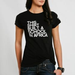 Roots t-shirt to build a school in Africa