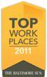 "Baltimore Sun ""Top Workplaces 2011"" Award"