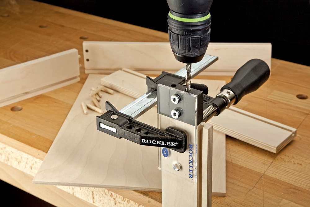 how to drill holes for dowels