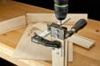 Quickly clamps to your stock so you can drill accurate holes