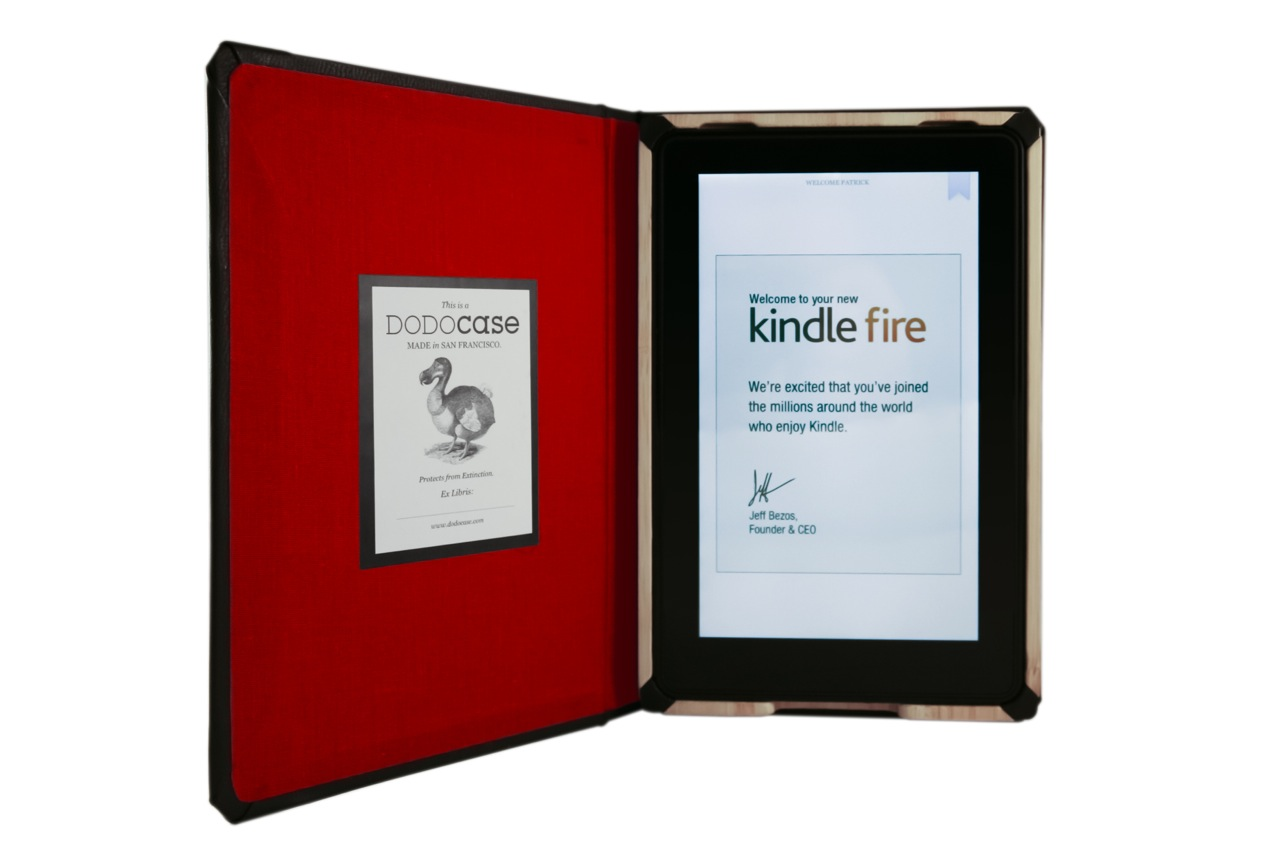Classic Book Cover Kindle Cases ~ Dodocase debuts hand crafted book bound amazon kindle