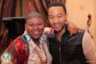 "Stacy Barthe and John Legend at the ""Stacy Barthe Presents The Seven Days of Christmas"" EP Listening Party at DMP Studio on Dec 5"